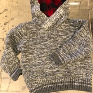 Cat & Jack 4T Pullover with Flannel Hoodie